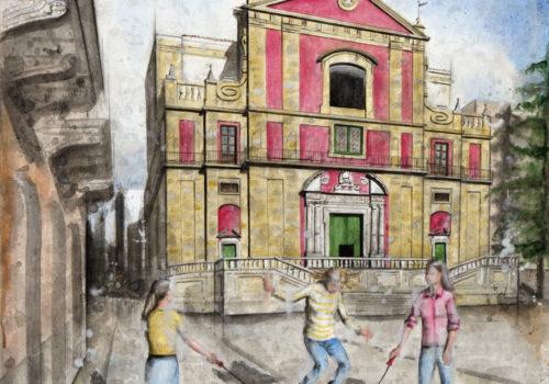 Il Salto Con La Corda (La Chiesa Del Collegio A Caltanissetta)