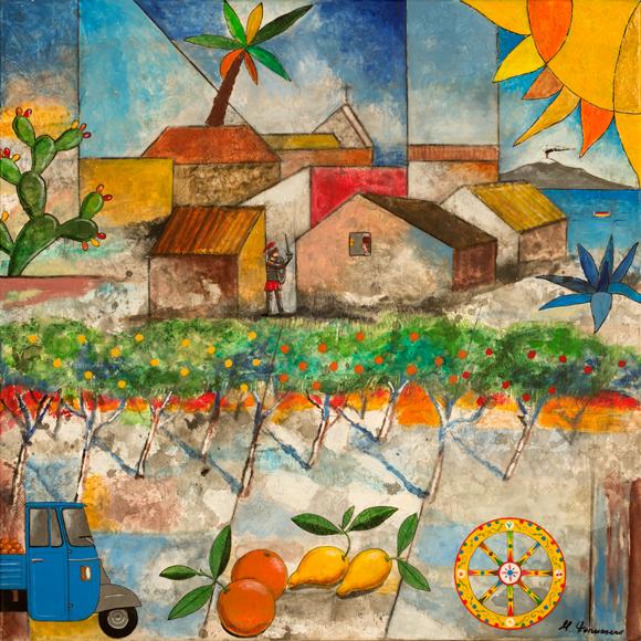 Paesaggio siciliano rurale